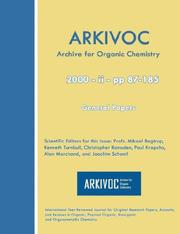 Cover of: ARKIVOC 2000 (ii) General Papers |