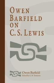 Cover of: Owen Barfield on C. S. Lewis