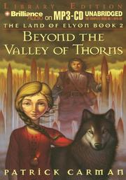 Cover of: Land of Elyon Book 2, The: Beyond the Valley of Thorns (Land of Elyon)