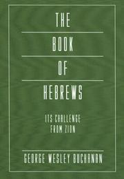 Cover of: The Book of Hebrews: Its Challenge from Zion: Intertextal Bible Commentary