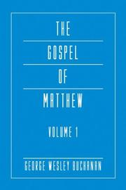Cover of: The Gospel of Matthew, Volume 1