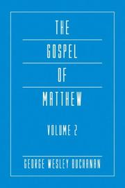 Cover of: The Gospel of Matthew, Volume 2