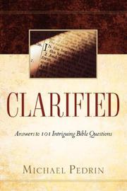 Cover of: CLARIFIED | Michael Pedrin
