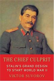 Cover of: The chief culprit