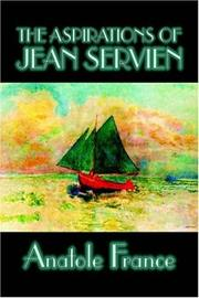 Cover of: The aspirations of Jean Servien