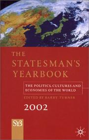 Cover of: The Statesman's Yearbook 2002 | Barry Turner