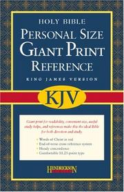 Cover of: KJV GIANT PRINT PERSONAL SIZE REF BIBLE BON BK |