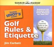 Cover of: The Pocket Idiot's Guide to Golf Rules & Etiquette