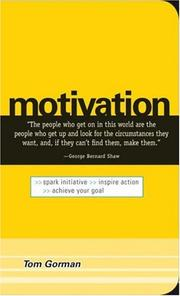 Cover of: Motivation | Tom Gorman