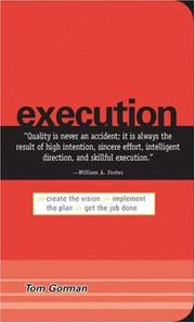 Cover of: Execution | Tom Gorman