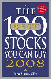 Cover of: The 100 Best Stocks You Can Buy 2008