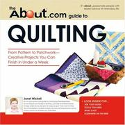 Cover of: The About.com guide to quilting