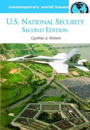 Cover of: U.s. National Security | Cynthia Ann Watson