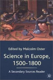 Cover of: Science in Europe, 1500-1800 | Malcolm Oster