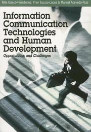 Cover of: Information Communication Technologies And Human Development |
