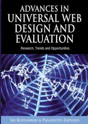 Cover of: Advances in Universal Web Design And Evaluation |