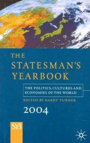 Cover of: The Statesman's Yearbook 2004 | Barry Turner