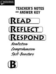Cover of: Read Reflect Respond B Answer Key (Read Reflect Respond)