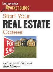 Cover of: Start your real estate career