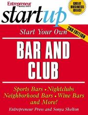Cover of: Start Your Own Bar and Club (Startup) | Entrepreneur Press