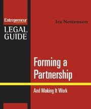 Cover of: Forming a Partnership (Entrepreneur Legal Guides) | Ira Nottonson