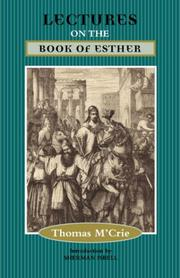 Cover of: LECTURES ON THE BOOK OF ESTHER | Thomas, M