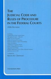 Cover of: Judicial Code And Rules of Procedure in the Federal Courts 2006