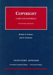 Cover of: Copyright Cases and Materials