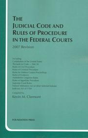 Cover of: The Judicial Code and Rules of Procedure in the Federal Courts