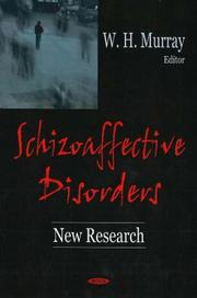 Cover of: Schizoaffective Disorders | William H. Murray