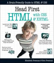 Cover of: Head First HTML with CSS & XHTML (Head First) | Elisabeth Freeman