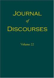 Cover of: Journal of Discourses, Volume 22 |