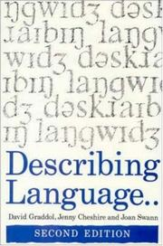 Cover of: Describing language