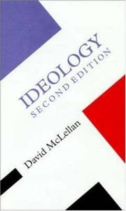 Cover of: Ideology (Concepts in the Social Sciences / Series Editor, Frank Parki) | David McLellan