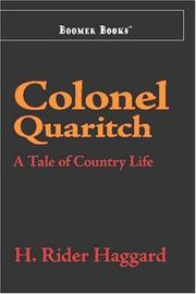 Colonel Quaritch, V.C. by H. Rider Haggard