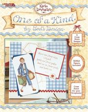 Cover of: One of a Kind by God's Design (Leisure Arts #4172)