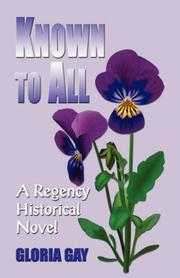 Cover of: Known to All