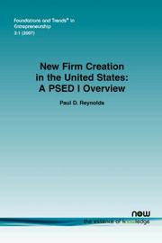 Cover of: NEW FIRM CREATION IN THE UNITED STATES | Paul, D Reynolds