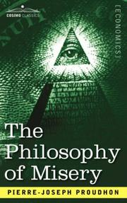 Cover of: The Philosophy of Misery