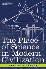 Cover of: The Place of Science in Modern Civilization