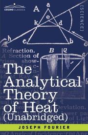 Cover of: The Analytical Theory of Heat