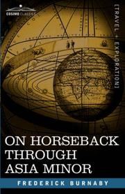 Cover of: On Horseback through Asia Minor | Frederick Burnaby