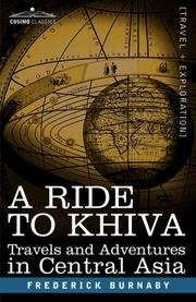 Cover of: A RIDE TO KHIVA | Frederick Burnaby