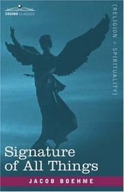 Cover of: Signature of All Things