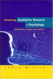Cover of: Introducing Qualitative Research in Psychology | Carla Willig