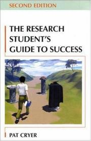 The Research Student's Guide to Success by Pat Cryer