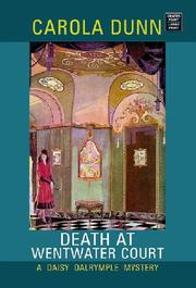 Cover of: Death at Wentwater Court