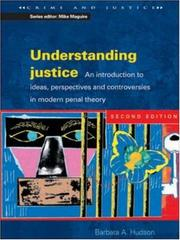 Cover of: Understanding justice | Barbara Hudson