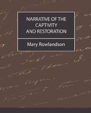 Cover of: Narrative of the Captivity and Restoration
