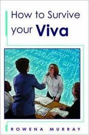Cover of: How to Survive Your Viva | Rowena Murray